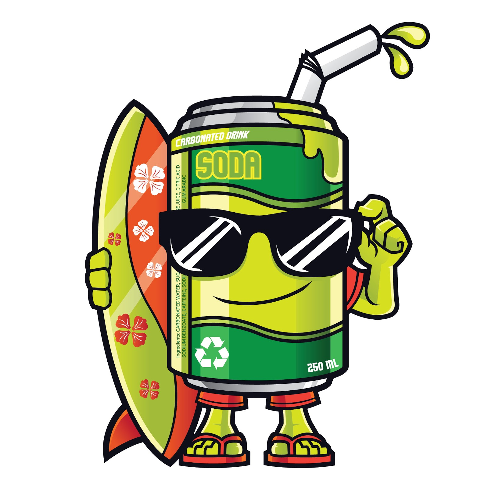 Soda Can Mascot Free Download Vector CDR, AI, EPS and PNG Formats