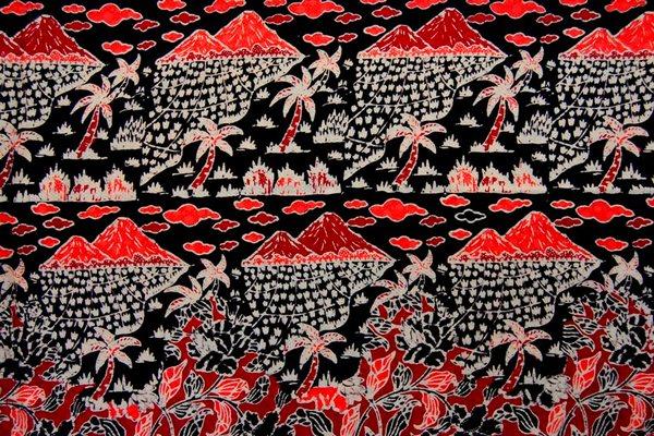 Batik Betawi Motif Nusa Kelapa Nyabut Padi