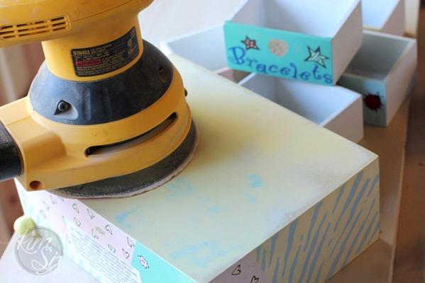 Sanding MDF jewlery box