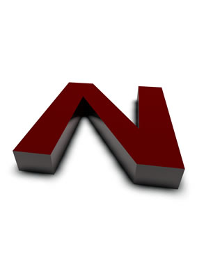 lettre 3D rouge de Chine - N - images libres de droit