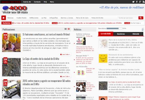 """El blog """"Vivir en El Alto"""" llega al millón de visitas"""