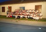 A testvér 100 tagú szentegyházi kórussal való találkozás közös énekkari csoportkép (2017. június 3.)