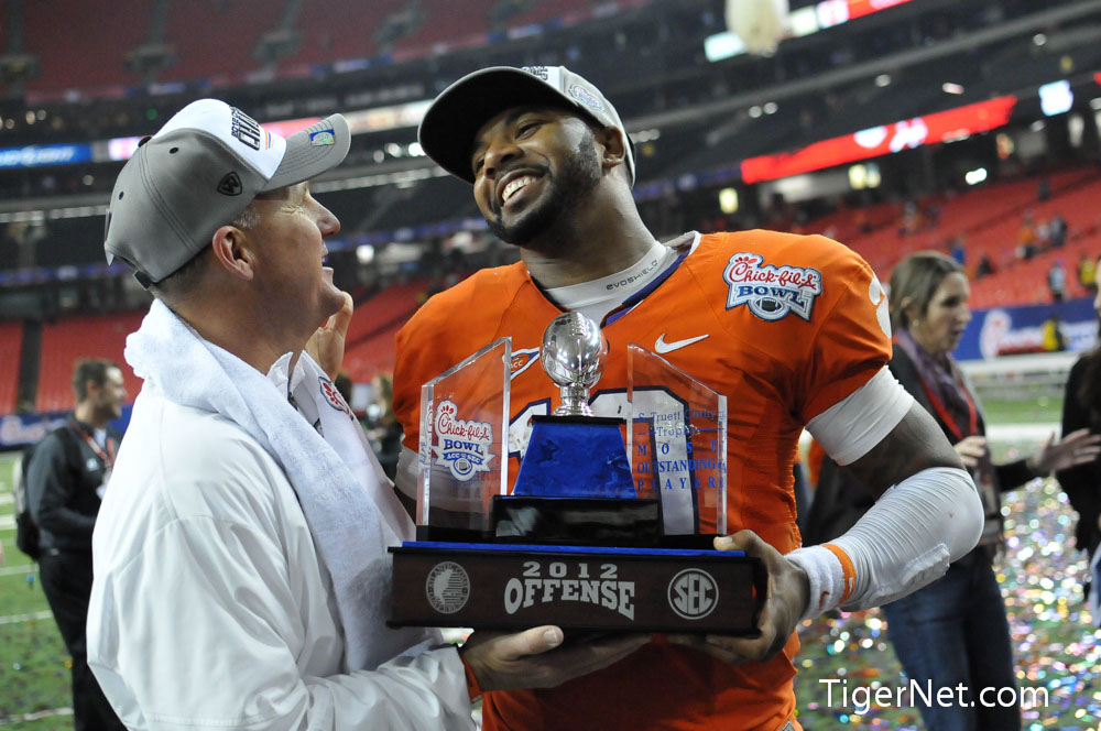2012 Chick-Fil-A Bowl vs LSU - Kick & Celebration Photos - 2012, Bowl Game, Chad Morris, Football, LSU, Tajh Boyd