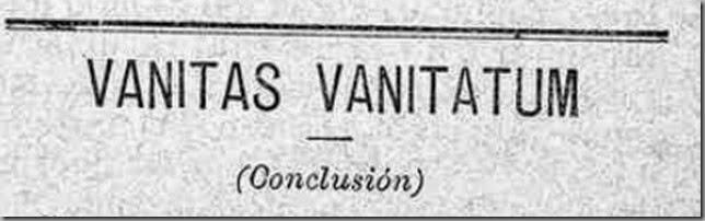 VANITAS VANITATUM