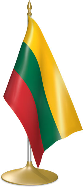 Lithuanian table flags - desk flags