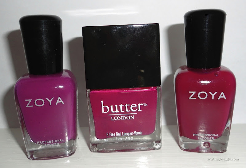 Winter 2016 nail polish favourites Zoya Demi Butter London Queen Vic Zoya Paloma