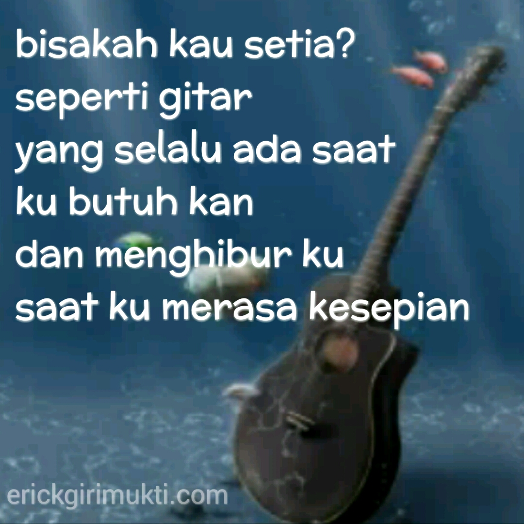 Caption Gitar Romantis