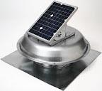 Solar Powered Vent Fan for Attic