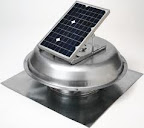 Solar Powered Vent Fan for Attic