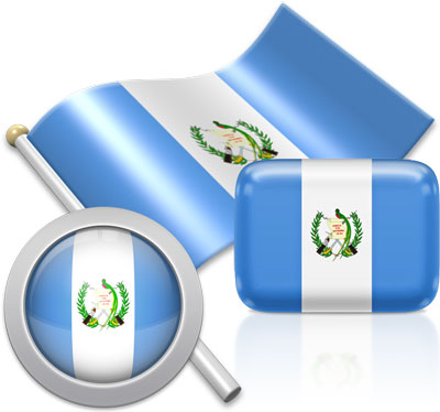 Guatemalan flag icons pictures collection
