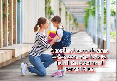 Mother preparing her daughter for school, Happy Birthday quotes for Mother.
