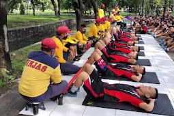 Siswa Dikmata XL/1 Pusdiktek Kodiklatal Laksanakan Tes Samapta Akhir