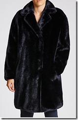Max Mara Weekend blue faux fur coat