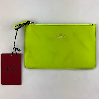 *SALE* Valentino Day-glow Yellow Small Pouch