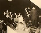 学芸会。当時は女子は制服がなかった。(1951)