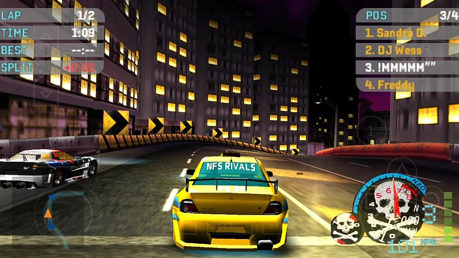 SAIU! Need For Speed Underground 2 LITE 98Mb MOD Para PPSSPP | ANDROID (+DOWNLOAD)