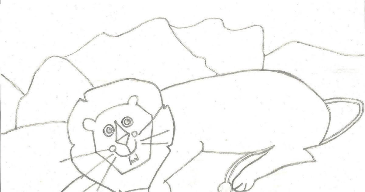 desenhos para colorir desenho infantil para colorir de leão pinte