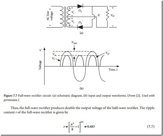 Rectifier and Filter Circuits:Power Rectifiers and Operating