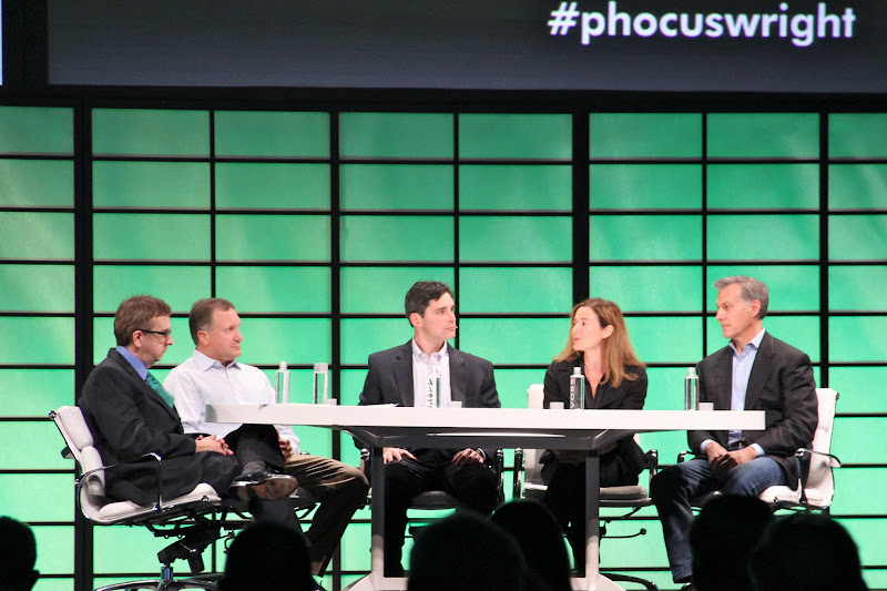 Photo: Jeff Brody, General Partner, Redpoint Ventures Sonya T. Brown, Partner, Norwest Venture Partners Kevin Crissey, Analyst, UBS Investment Bank Woody P. Marshall, General Partner, Technology Crossover Ventures