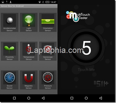 Sensorbox for Android dan Multitouch tester Infinix Zero 3 X552