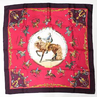 Hermès Les Figures d'Equitation Vintage Scarf