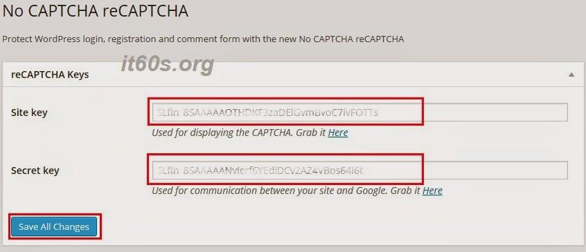 "Cách bảo mật Wordpress tốt nhất bằng cách tích hợp ""NO RECAPTCHA"" 4"