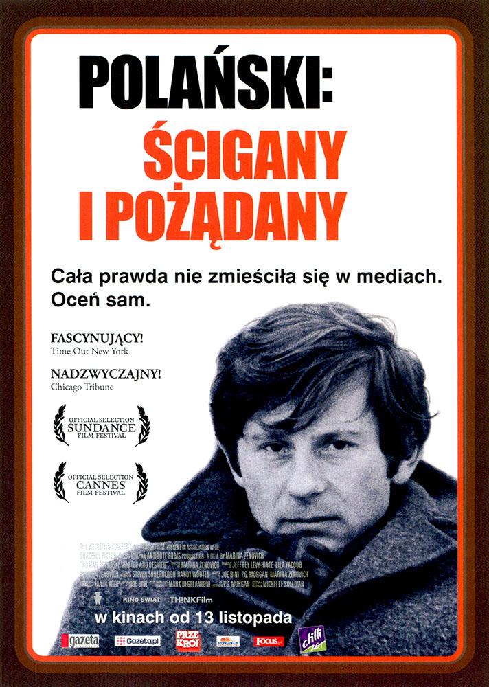 Ulotka filmu 'Polański: Ścigany i Pożądany (przód)'