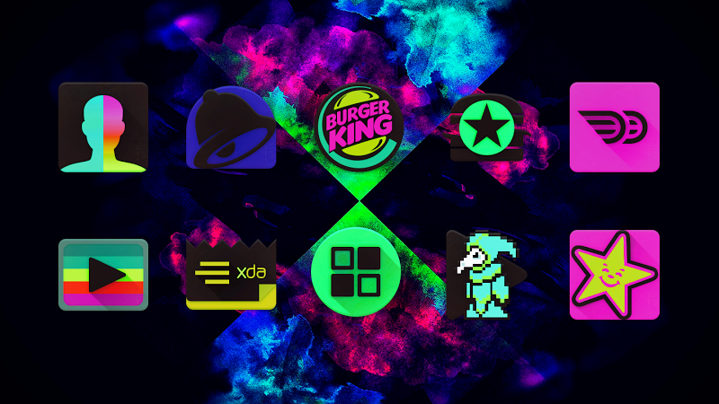 Black Light Icon Pack Screenshot 1