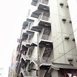 interesting set of stairways in Akihabara in Akihabara, Tokyo, Japan