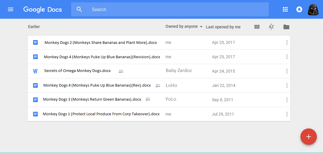How To Customize Google Docs List View With Columns Like Date - When was google docs created