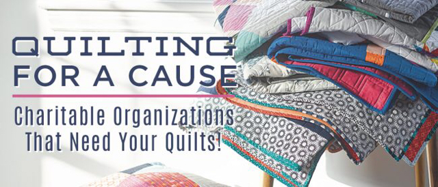 Quilts for charitable organizations