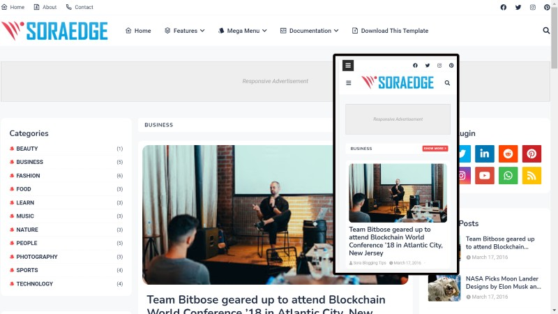 SEO Optimized and Ads ready blogger template