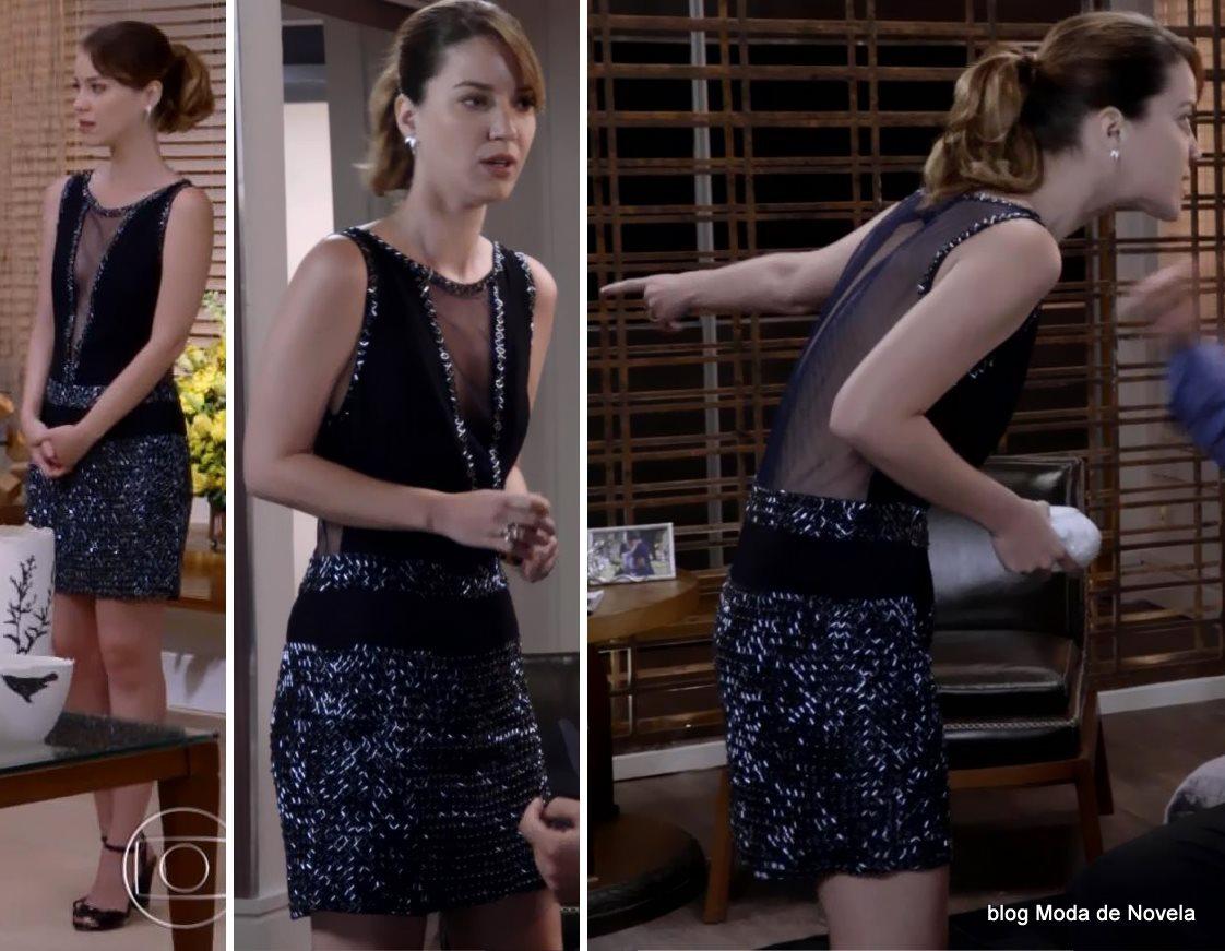 moda da novela Alto Astral, look da Laura dia 22 de novembro