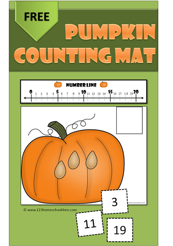 Pumpkin-Counting-Mat-Preschool-Kindergarten-Numbers-Fall