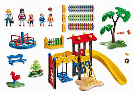 Contenido real de Playmobil® 5568 Zona de Juegos Infantil