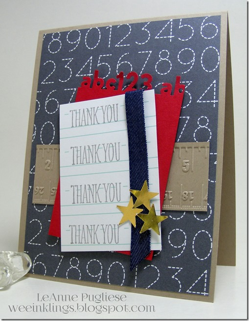 LeAnne Pugliese WeeInklings Something to Say Thank You Stampin Up