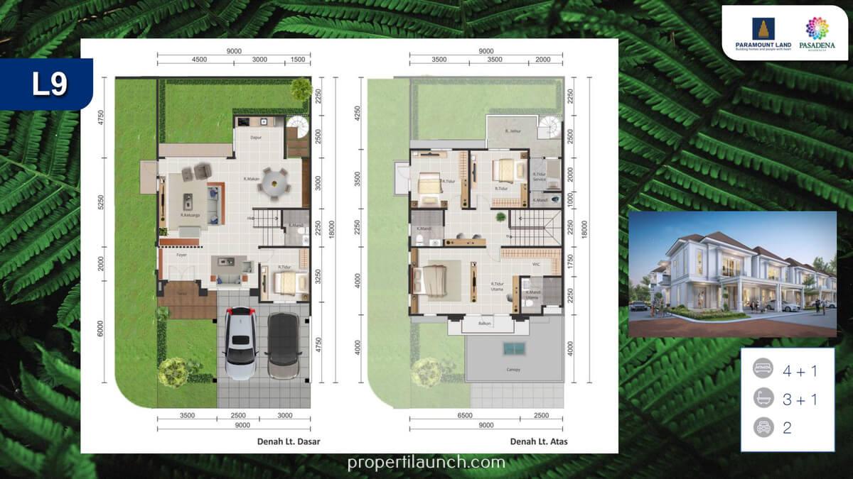Rumah Pasadena Residence Tipe 9