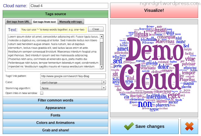 Tagul Tag Cloud Creator Tool - Click to enlarge