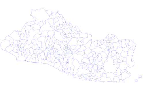 Mapa de El Salvador con sus municipios