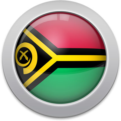 Vanuatuan flag icon with a silver frame