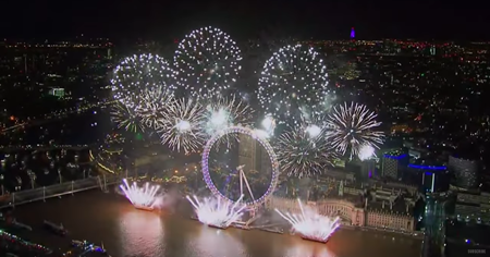 London New Year's Eve Fireworks 2017