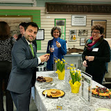 April 12 Chamber Open House, Sam Logan, Gina, Carol.