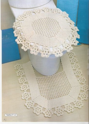 Blog de andreiatur : croche com a natureza, jogo de banheiro