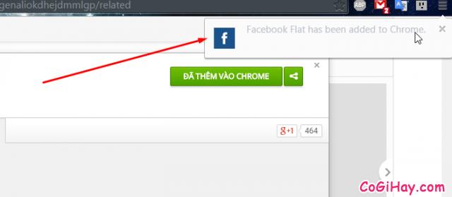cài đặt ứng dụng đổi giao diện facebook thành công