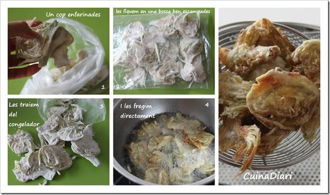 4-Xips de carxofa cuinadiari-congelades