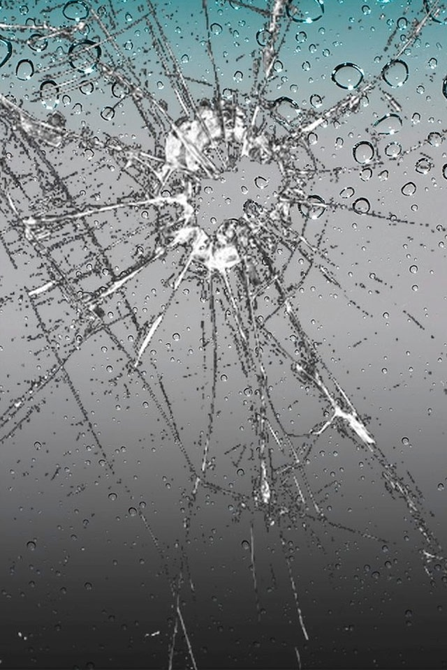 iPhone 4 Background Shattered Glass Picture Wallpaper