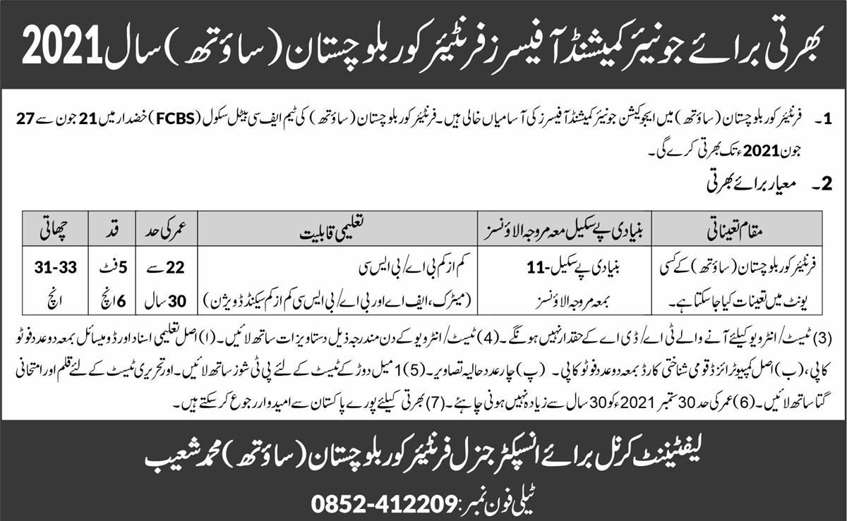 Junior Commissioned Officer (JCO) Jobs June 2021 (100 Posts)