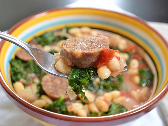 Sausage Kale Cassoulet
