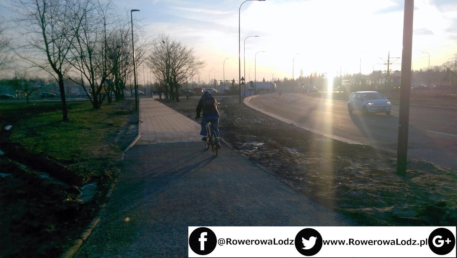 Ktoś stwierdził, że miejsca tu brakuje więc rowerzystów skieruje na chodnik