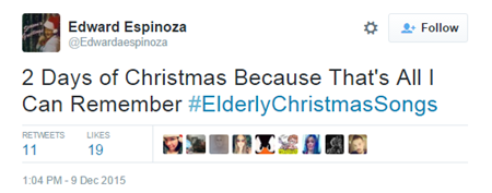 2 Days of Christmas Because That s All I Can Remember #ElderlyChristmasSongs